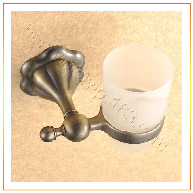 Торгово-люкс латуни стакан держатель, Бронзовая отделка обладатель кубка, Настенные, Бесплатная доставка L15611