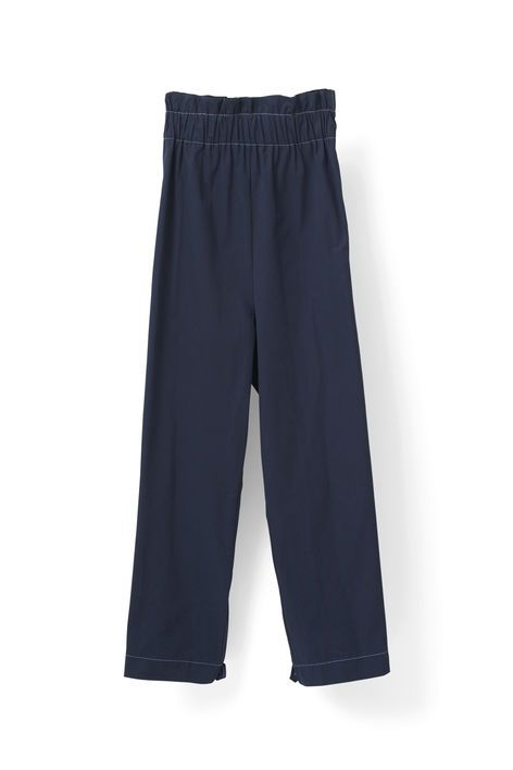 Oversized trousers with straight legs finished  with a draped elasticated waistband. <br /><br />Model is  175cm tall and wearing a size small/ 36.