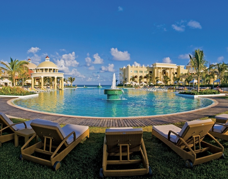 """At dawn, everyone sits in a circle to watch the unicorns bathing"". Well, not really. But almost. www.iberostar.com"