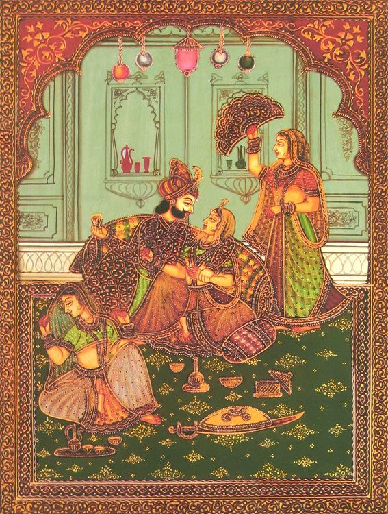 The Mughal Harem (Reprint on Paper - Unframed))