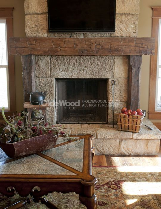 wood beam mantels for fireplace   barn beam fireplace ...