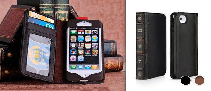 $24 for a Leather Vintage Book Case for iPhone 5 or iPhone 4/4S - Tax Included ($49 Value)