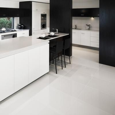 Polished Porcelain Would love these floor tiles from Tile Moutain More
