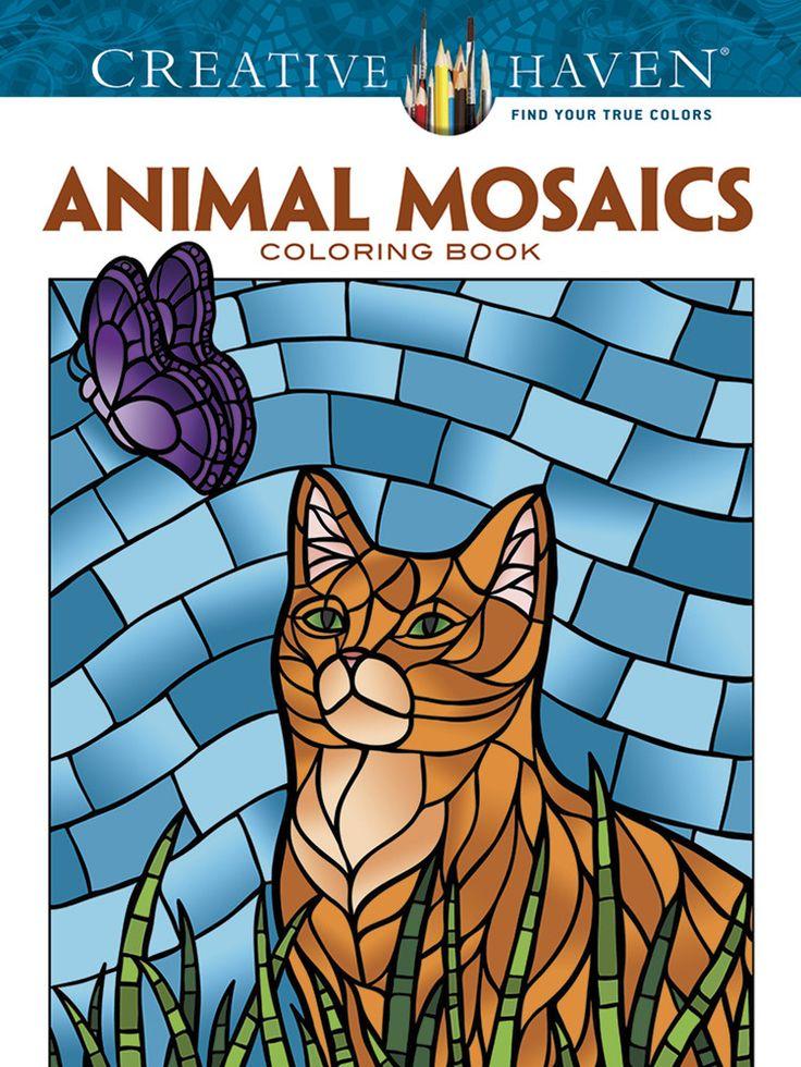 creative haven animal mosaics coloring book - Children Colouring Book