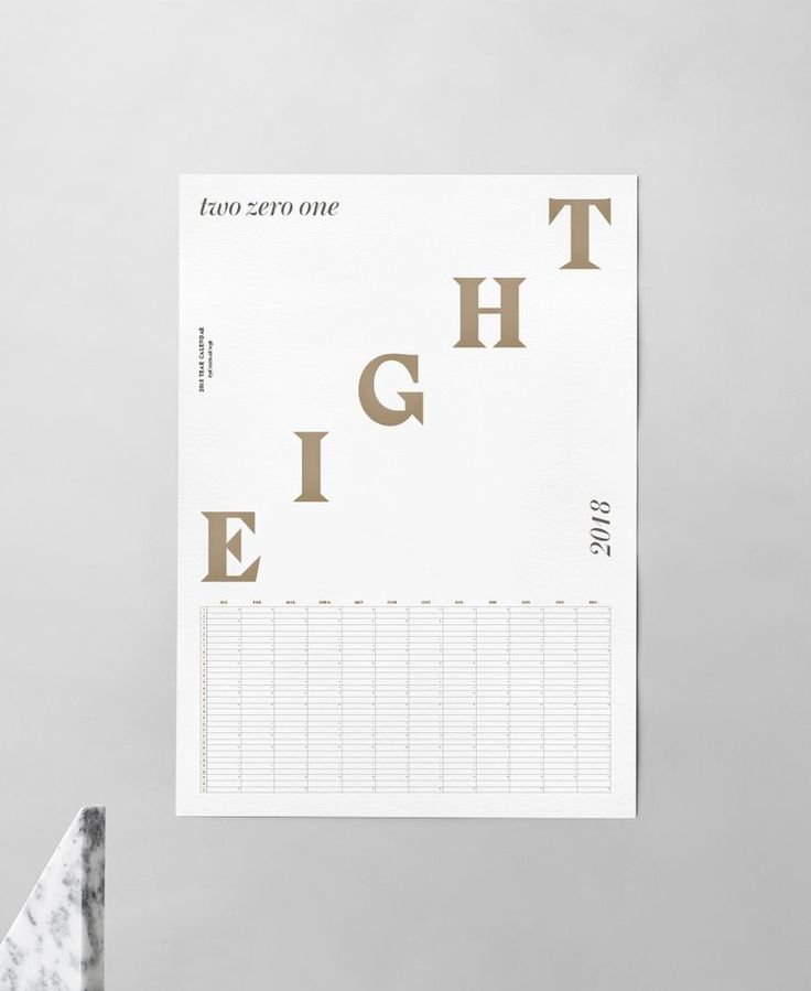 Image of Wall Calendar 2018