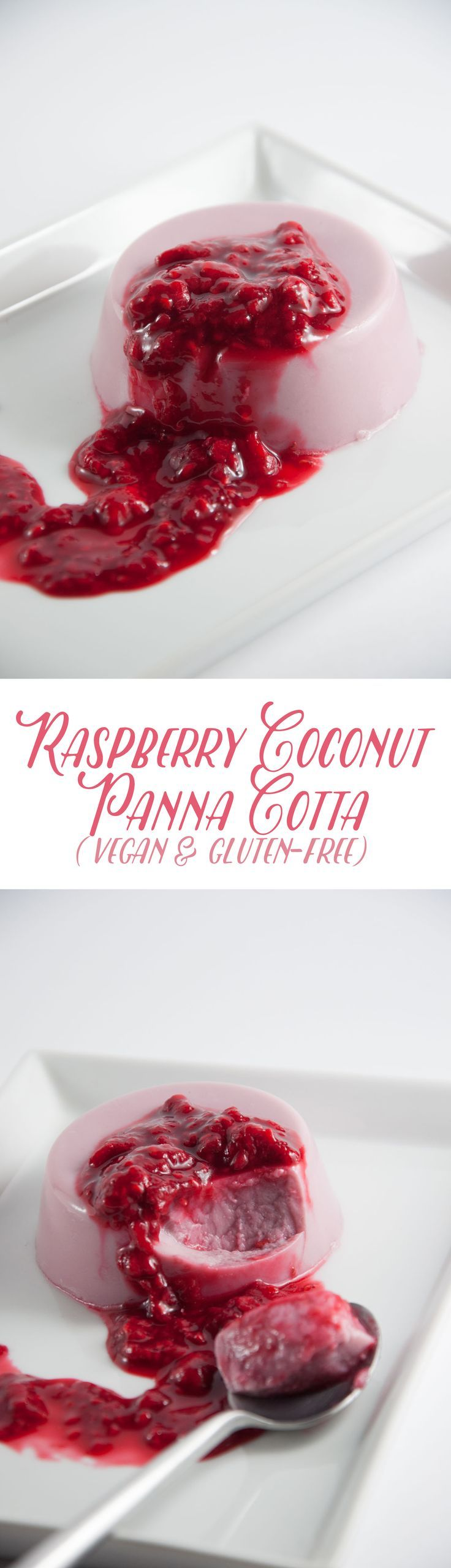 Vegan Raspberry Coconut Panna Cotta | Elephantastic Vegan