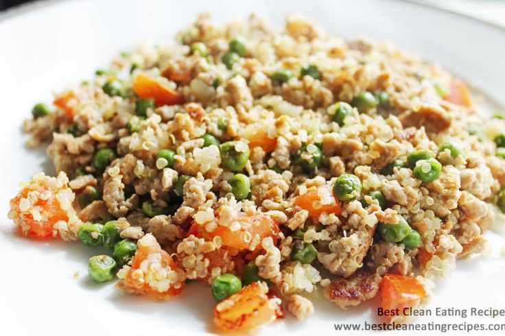 Clean Eating Recipe – Ground Turkey and Quinoa Stir Fry | Diet Meals and Easy …