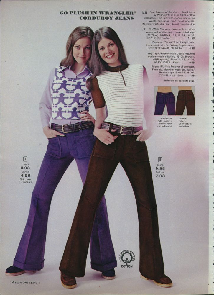 Sear's catalog fashions from the 70's via Retronaut, yep wore it in the 70's.