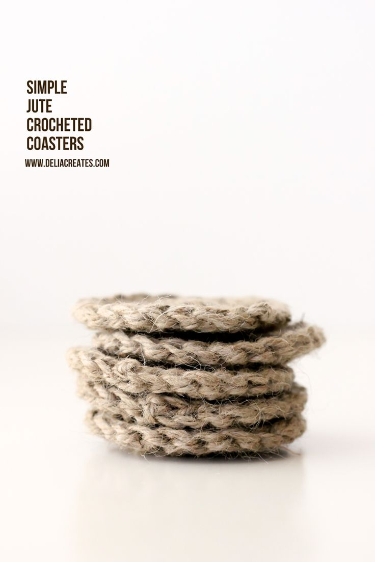 DIY: simple jute crocheted coasters