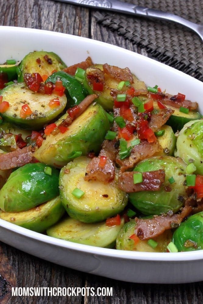 My crockpot is working over time in the side dish department now that it is grilling season. Today's fresh find was Brussels Sprouts. These haven't always been a favorite of mine, but when they are cooked right…and of course with bacon….they are awesome! Give these CrockPot Brussels Sprouts a try! PrintCrockpot Brussel SproutsPrep 5 minsCook...Read More