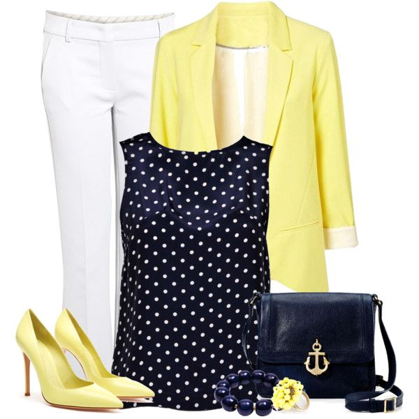 A fashion look from February 2013 featuring button back top, lined pants and leather pumps. Browse and shop related looks.