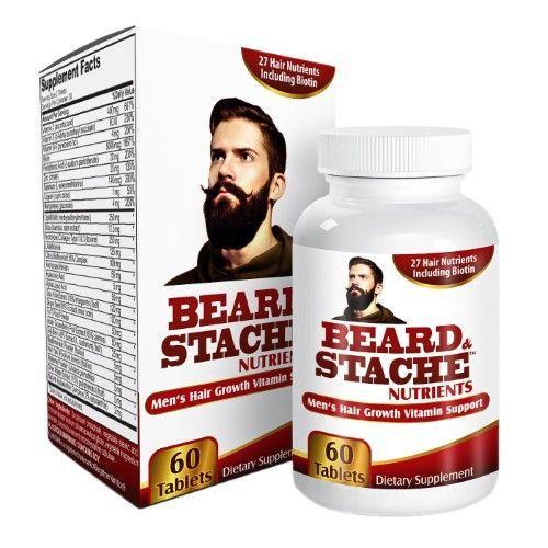 Beard & Stache Nutrients: Beard Growth Vitamins/Supplements for Men #instafollow #L4L #vitaminD #vitamins #vitaminB