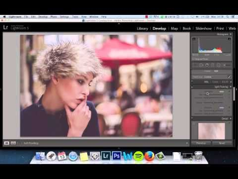 Lightroom 5 Film effect look with cross process quick and simple - YouTube