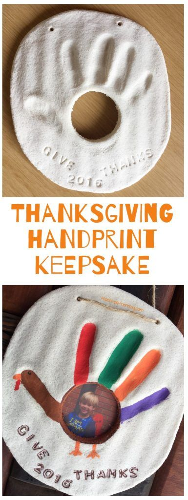 Thanksgiving handprint  keepsake made with salt dough!