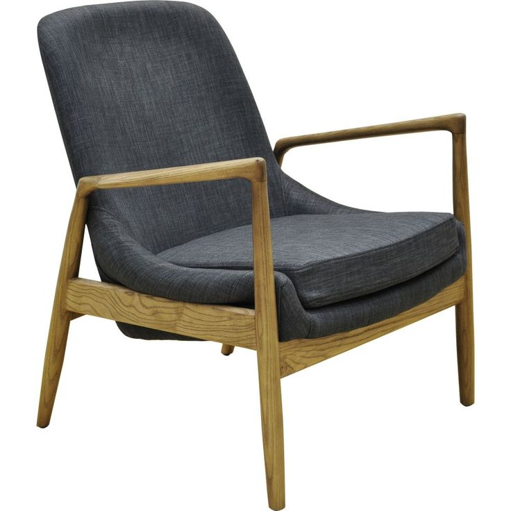 This minimalistic, organically modelled chair features tapered ash arms and legs, and a carefully designed fabric body for increased comfort.