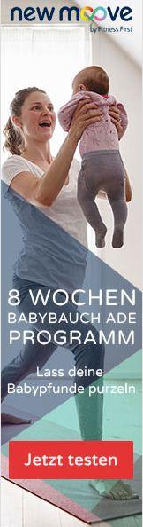 Babypfunde loswerden und schnell wieder in Form kommen nach der Schwangerschaft?  Das Home-Fitness-Programm von New-Moove hat einen tollen Trainingsplan zusammengestellt, der aus Bodyshaping und Pilates-Einheiten besteht.  Die Online-Kurse kann man jederzeit zuhause machen. Hier kann man das Programm eine Woche gratis testen! (Einfach auf das Bild klicken)