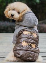 Envío gratis perro del perro del invierno chaquetas sudaderas abrigos de invierno para perros pequeños Boy(China (Mainland))