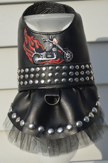 Motorcycle Biker Tutu Harness Dog Dress by KOCouture on Etsy pet ... f17425bc32