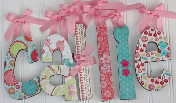 wood letters wooden letters baby name by dottedcrossdesigns wall letters for the girls room babies pinterest initials girls and babyshower