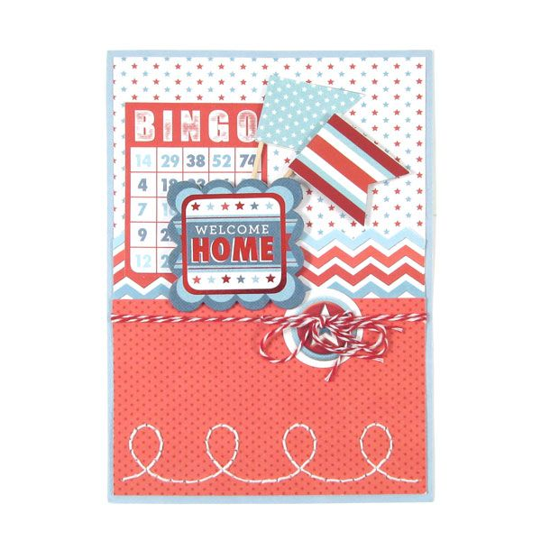 Welcome Home featuring Red White and Blue from We R Memory ...