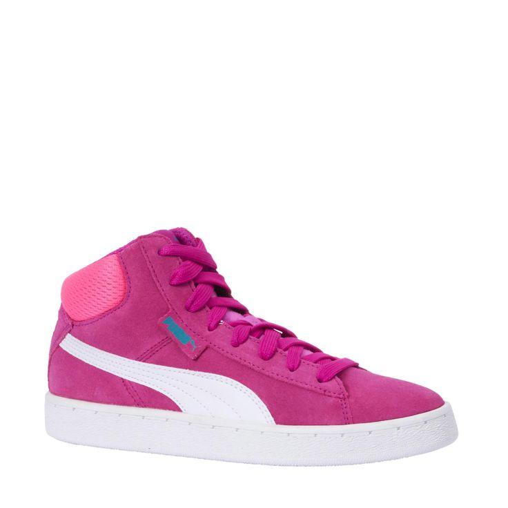 check deze Puma 1948 Mid jr sneakers Fuchsia/roze