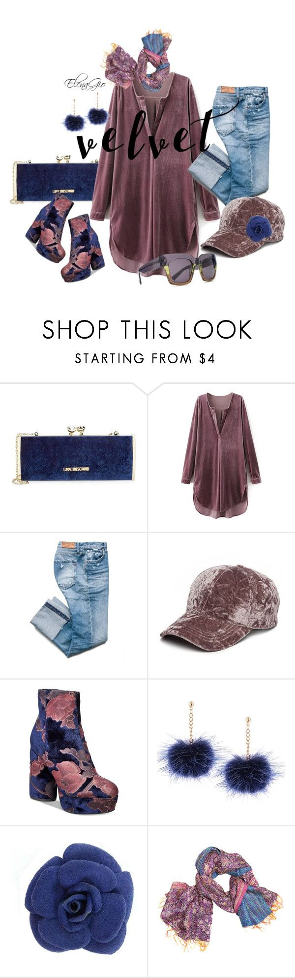 """""""Senza titolo #2273"""" by elenagio ❤ liked on Polyvore featuring Love Moschino, Collection XIIX, Call it SPRING, Mélange Home and HOOK LDN"""