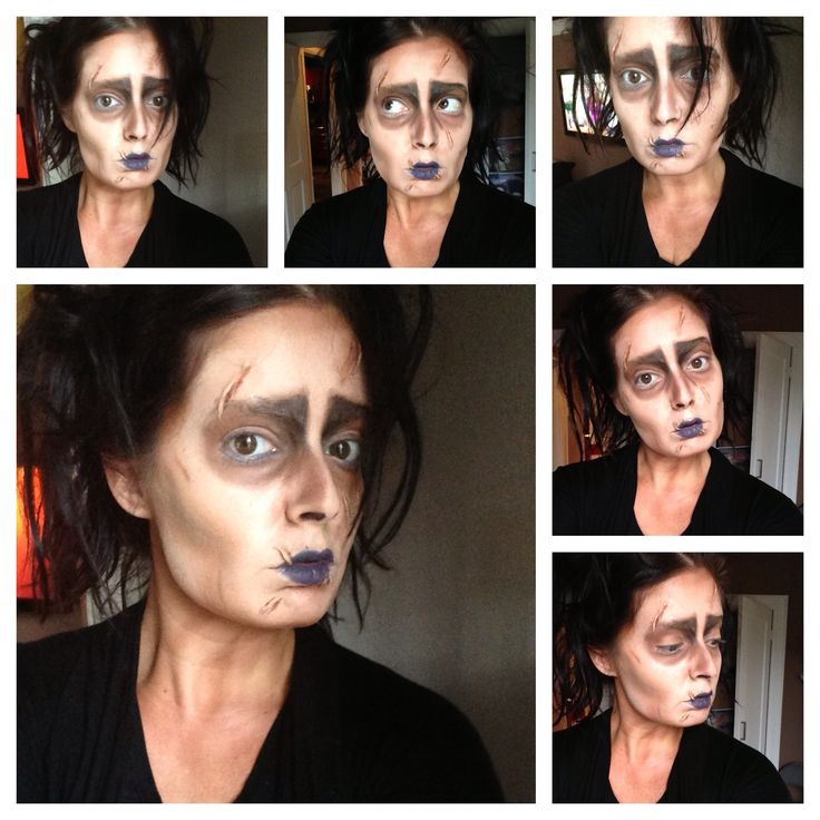 Edward scissorhands character makeup this is reakky good.