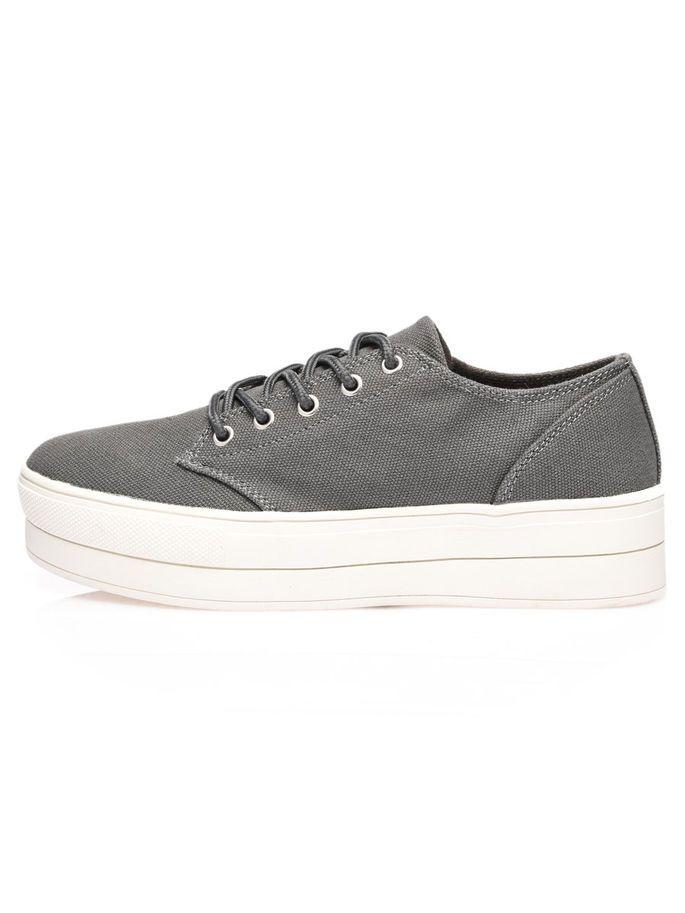 FLATFORM SNEAKERS, Grey, large