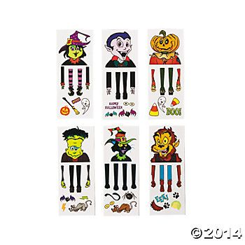 Halloween Toys: 9 Piece Hand Puppet Tattoos - 12 Sets Party Supplies Canada & Halloween Supplies Canada - Open A Party-12 x $3