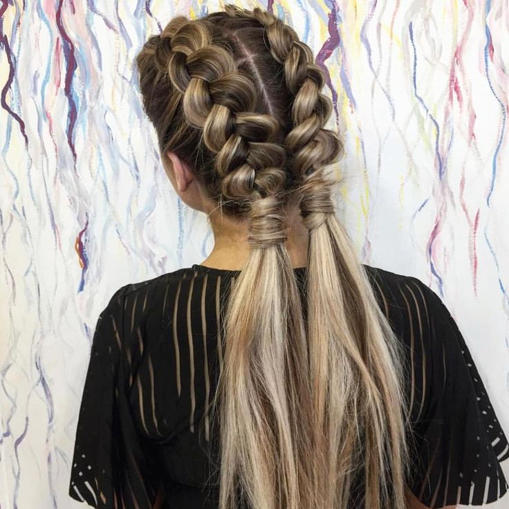 Pretty Dutch Braids💕 Yes or No?! 📷 Hair by @circlesofhair ⠀ #hairstyles #style #hair #girls # ...