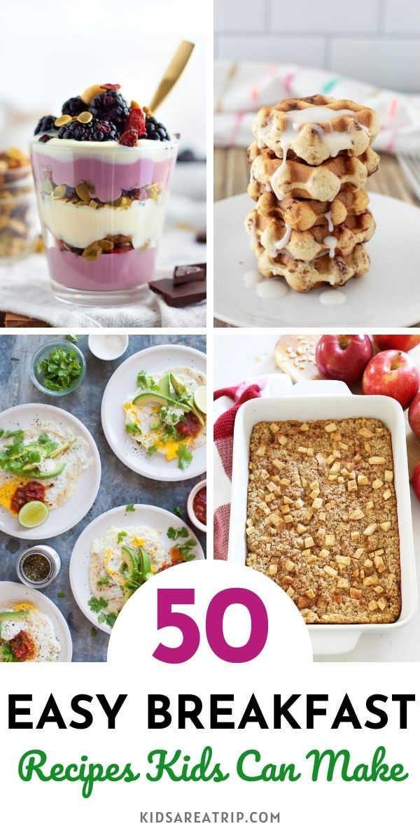 Easy Breakfast Ideas For Kids To Make Breakfast Recipes Kids Easy Breakfast Breakfast For Kids