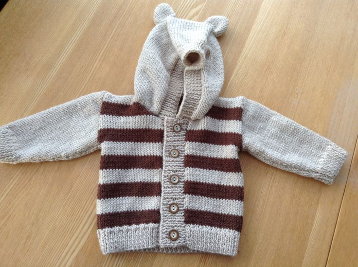 Snuggly bear jacket for Freddie