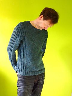 Man's Ribbed Sweater pattern by Jane Howoth- Ravelry