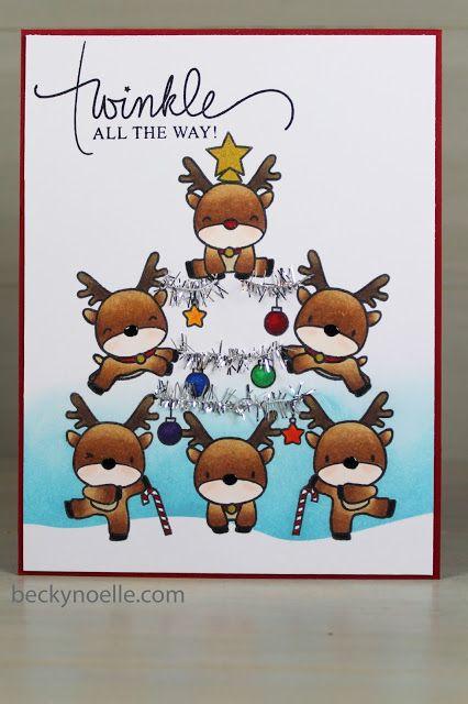 Reindeer Tree card by Beckynoelle  Mama Elephant Reindeer Games Stamp Set