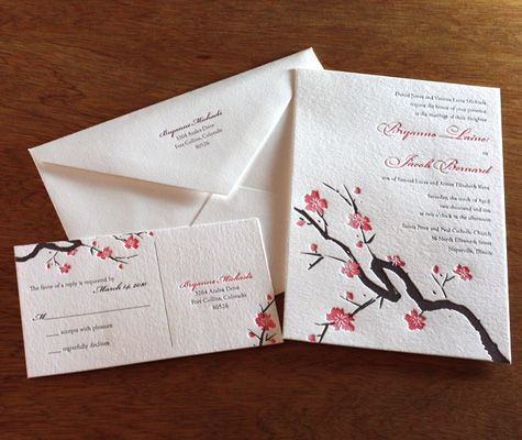 Cherry Blossom Wedding Invitations!
