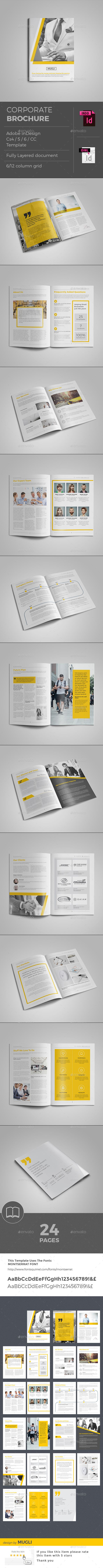 Corporate Brochure Template InDesign INDD #design Download: http://graphicriver.net/item/corporate-brochure/14400261?ref=ksioks