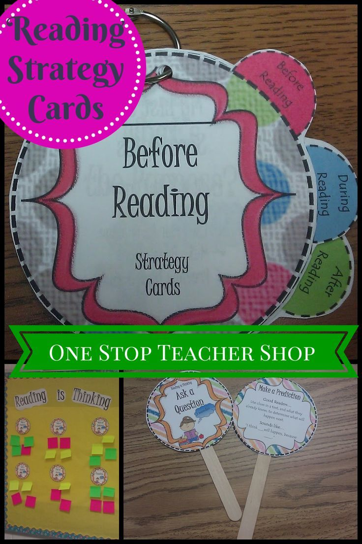 Read about how I use my Reading Strategy Cards in my Literacy Classroom! by One Stop Teacher Shop