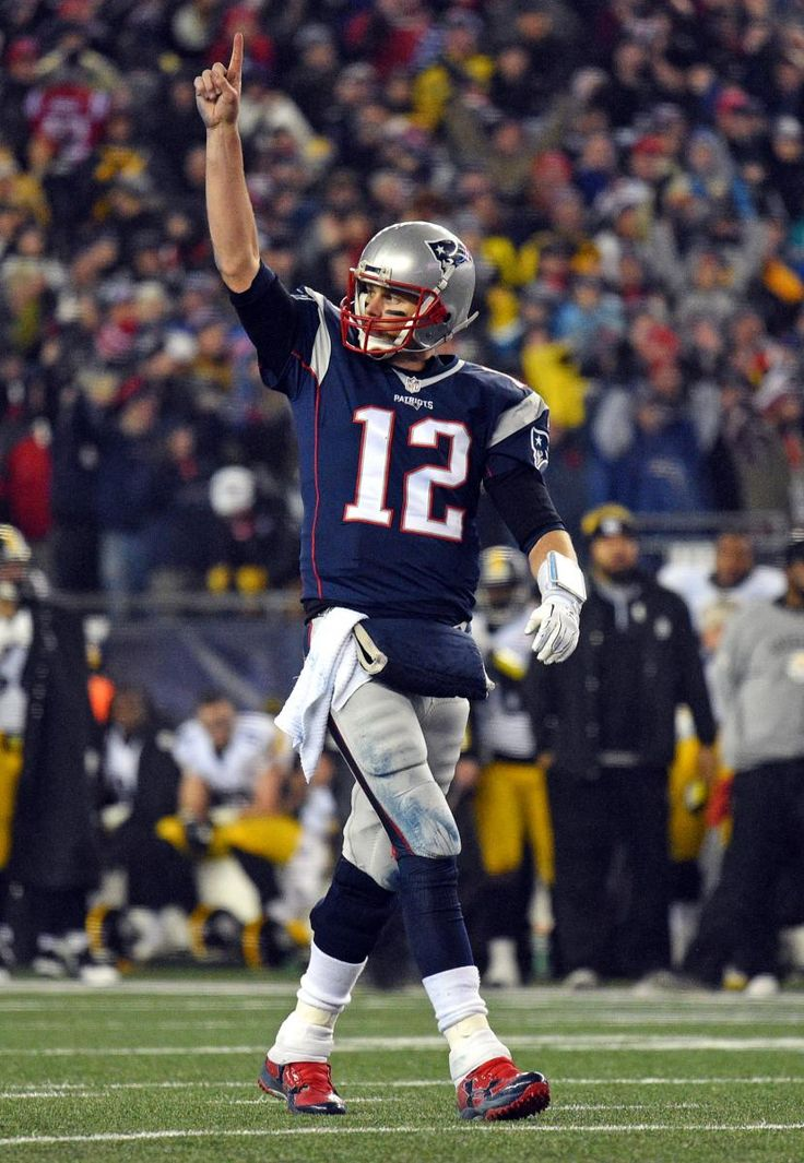 There was no disputing the excellence of Tom Brady again Sunday in the AFC Championship. (James Lang/USA Today Sports)