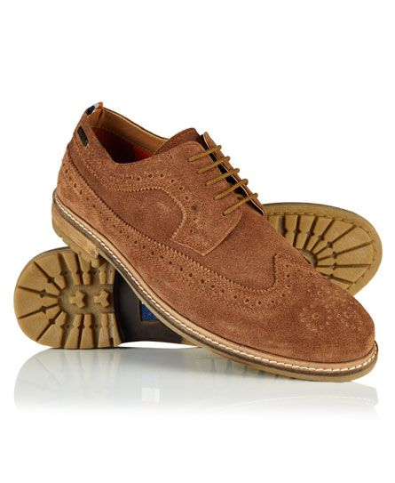 #superdry Superdry men's Brad brogue shoes. These leather shoes have brogue styling and are finished with a Superdry heel pull and a metal Superdry logo badge near the shoe opening. 422665150000481O017 Brown Condition | new