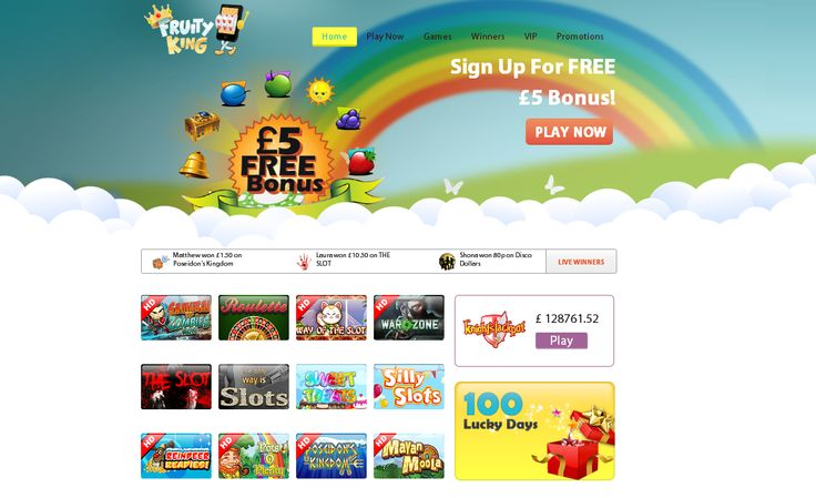 Sign up at one of the UK youngest mobile casino Fruity King & get instant £5 bonus free.http://goo.gl/JddOXS