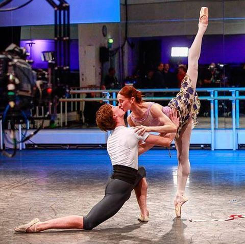 Making kiss-story!  We're in the middle of the longest ever attempted Facebook live video, making social media history and broadcasting from five of the world's best ballet companies, @ausballet @bolshoi_theatre @nationalballet and @sfballet - our section is about to end but you can keep watching live from @nationalballet in Canada!  #WorldBalletDay #royaloperahouse #London #behindthescenes #theatre #theater #dance #rehearsal #Facebook #Facebooklive #livestream