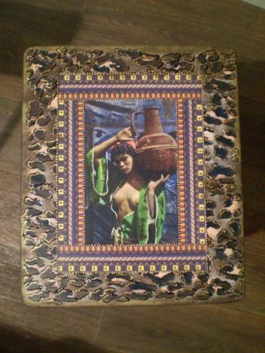Табуретка «Африканская сказка» http://dcpg.ru/mclasses/tab-afrika/ Click on photo to see more! Нажмите на фото чтобы увидеть больше! decoupage art craft handmade home decor DIY do it yourself tutorial Materials: napkins acrylic paint varnish etc.