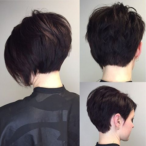 I love when someone wants a HUGE change!  Short Asymmetrical Bob  #hairbymisskacy