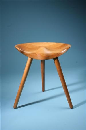Traditional Scandinavian Stool. Note The Old School Aproach Of The Curved  Indented Seating Surface To