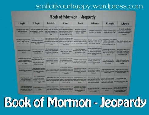 YW activities...and stuff / Book of Mormon Jeopardy