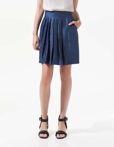 PLEATED LINEN SKIRT - Skirts - Woman - ZARA Dominican Republic