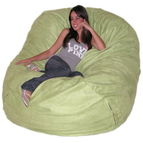6 Feet X Large Lime Cozy Sac Foof Bean Bag Chair Love Seat