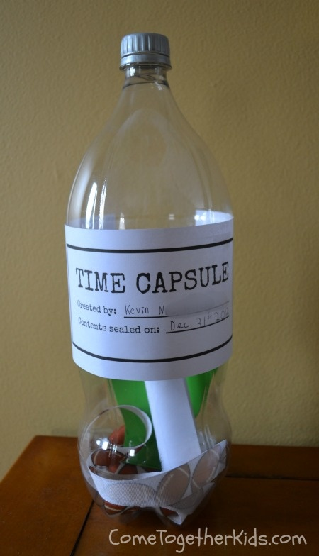 Make a Time Capsule--Cute end of school project--time in a bottle after 1st grade