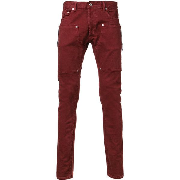 Mr. Completely - super skinny jeans - men - Cotton/Spandex/Elastane -... ($295) ❤ liked on Polyvore featuring men's fashion, men's clothing, men's jeans, red, mens skinny jeans, mens super skinny jeans, mens red jeans, mens jeans and mens spandex jeans