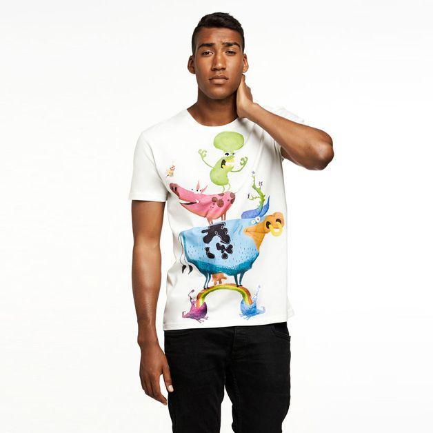 Koszulka Moo-tation z kolekcji Rainbow Mootations. Koszulka męska w kroju Selva Classic.   Zaprojektowana i wyprodukowana w Polsce z najwyższej jakości bawełny biopolerowanej wraz z obróbką...